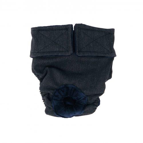 charcoal gray diaper