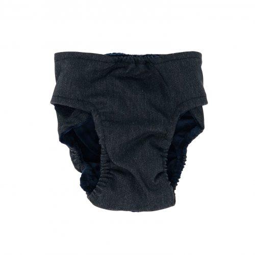 charcoal gray diaper - back