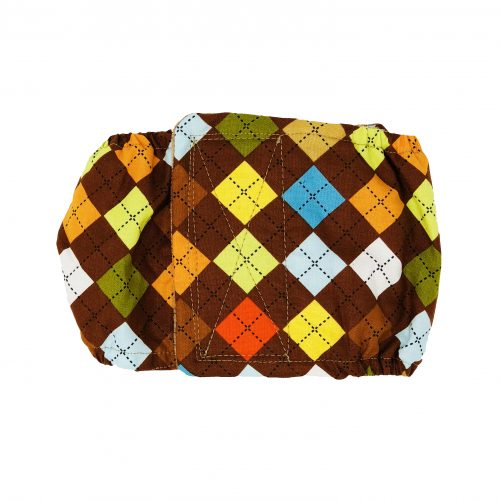 classic brown argyle belly band