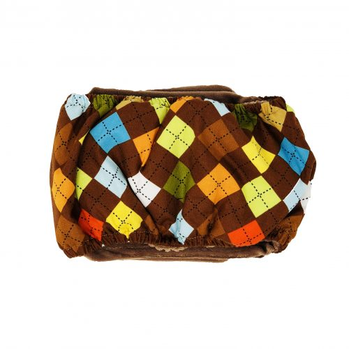 classic brown argyle belly band - back