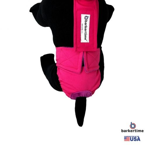 hot pink diaper overall - model 2
