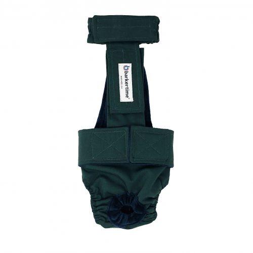 hunter green diaper overall