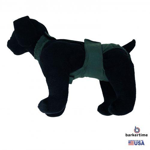 hunter green diaper overall - model 1