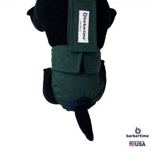 hunter green diaper overall - model 2