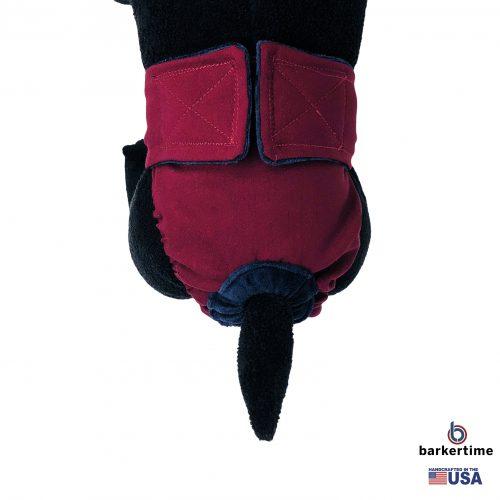 merlot red diaper - model 2