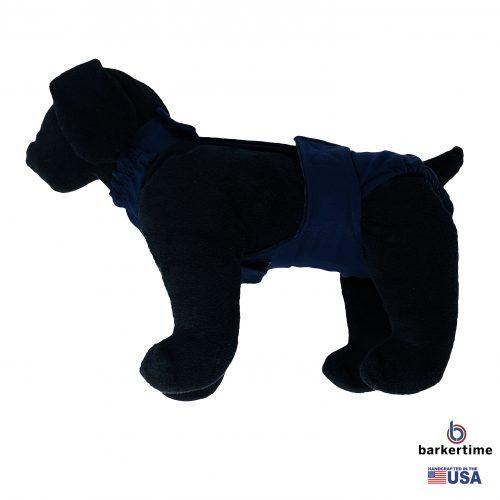 navy blue diaper overall - model 1