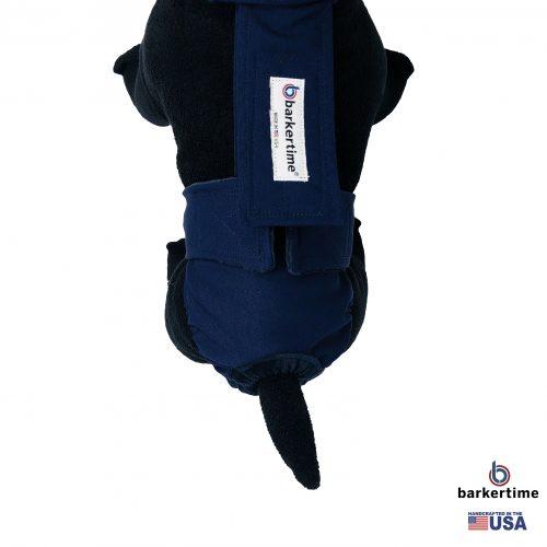 navy blue diaper overall - model 2