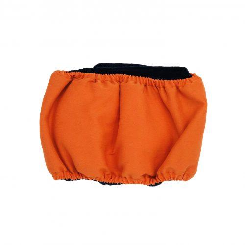 neon orange belly band - back