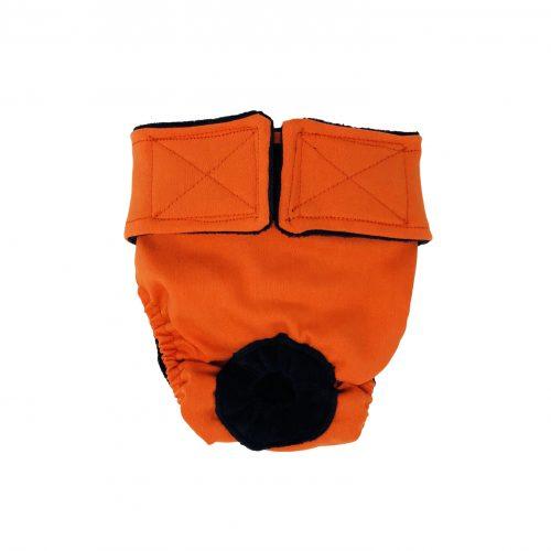 neon orange diaper