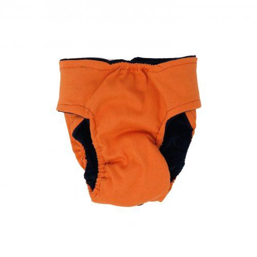 neon orange diaper - back