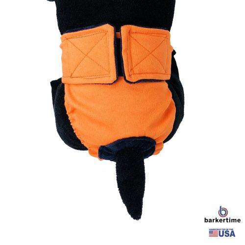 neon orange diaper - model 2