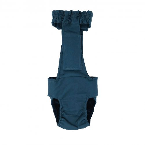 pacific turquoise diaper overall - back