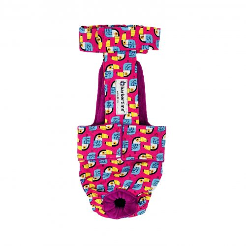 toucan on pink diaper overall - new