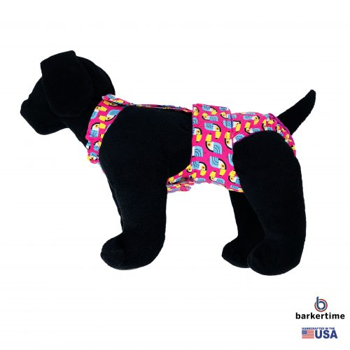 toucan on pink diaper overall - new - model 1