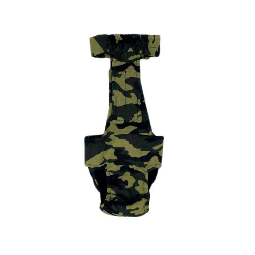 camo diaper overall - new - back