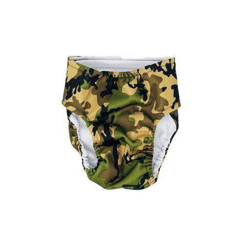camo swim diaper - back