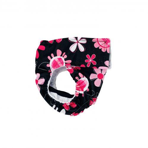 floral swim diaper - side