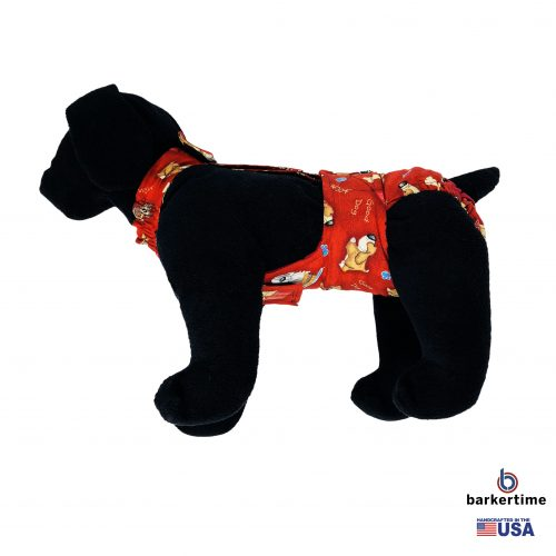 good doggie on red diaper overall - new - model 1