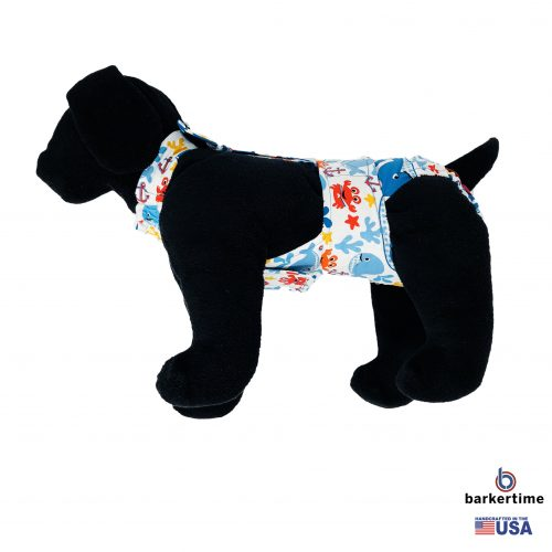 sea buddies dog diaper overall - new - model 1