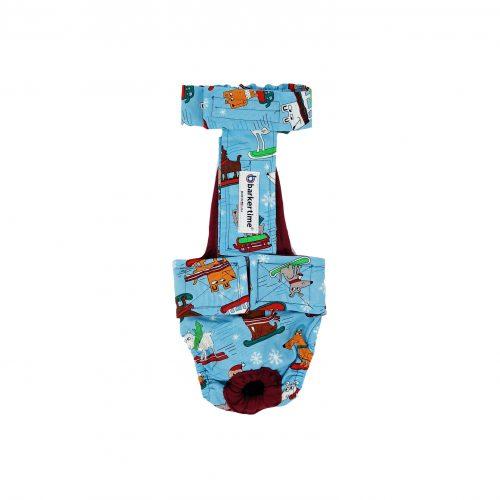 winter doggie diaper overall - new