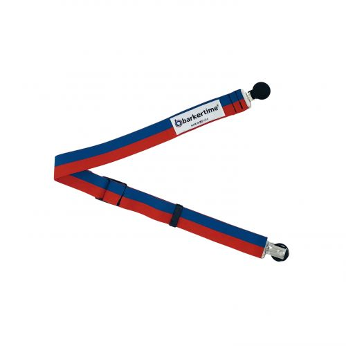 red and blue stripes suspender