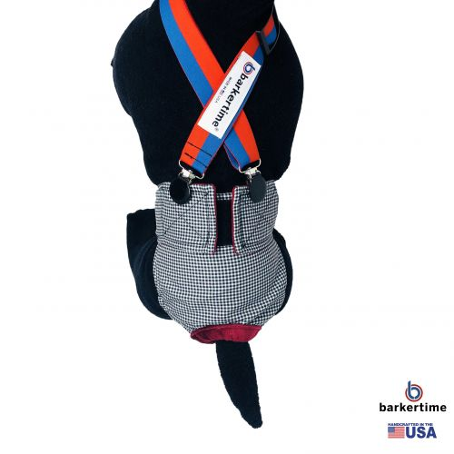 red and blue stripes suspender - model 1