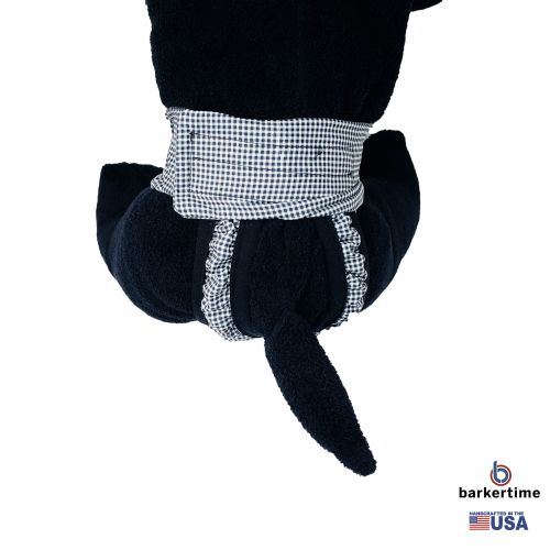black and white gingham diaper pull-up - model 2