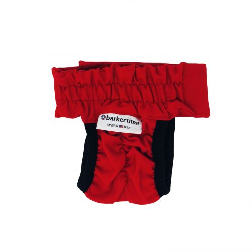 cherry red diaper pull-up - new - back