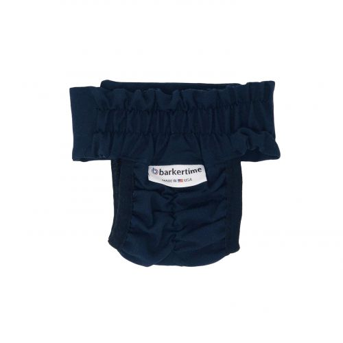 navy blue diaper pull-up - back