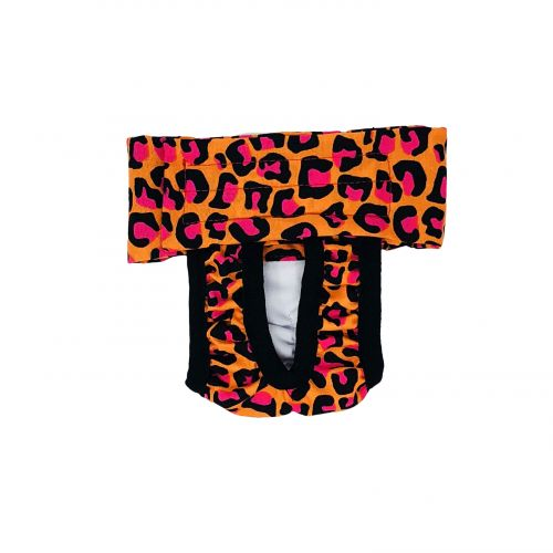 orange hot pink leopard diaper pull-up - new