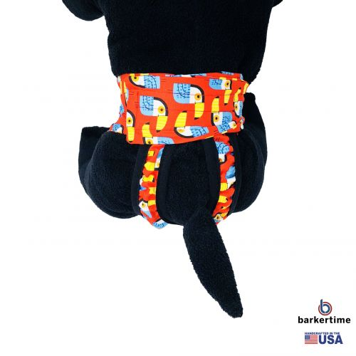 toucan on red diaper pull-up - new - model 2