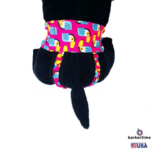 toucan on pink diaper pull-up - model 2