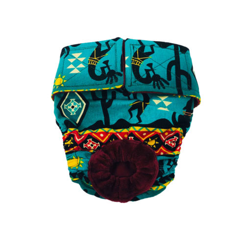 american southwest on blue teal diaper 2