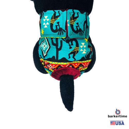 american southwest on blue teal diaper 2 - model 2