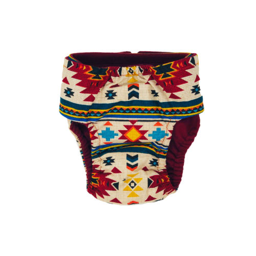 american southwest on white diaper - back