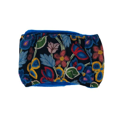 beautiful flowers on black belly band - back