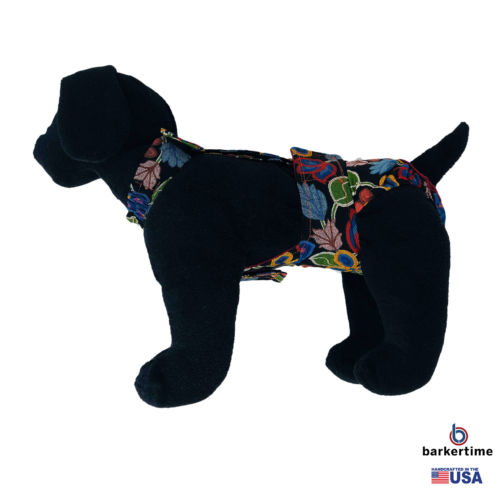 beautiful flowers on black diaper overall - model 1