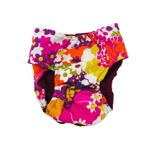 beautiful spring flower diaper 2 - back