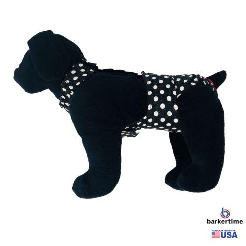 white polka dot on vintage black diaper overall - model 1