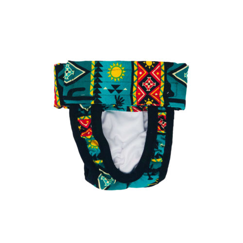 american southwest on blue teal diaper pull-up