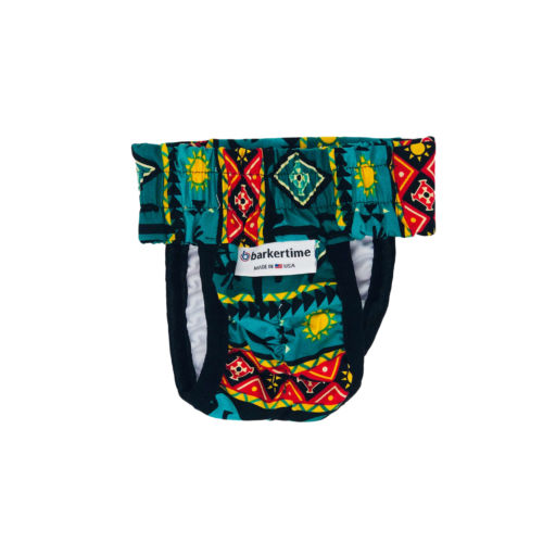 american southwest on blue teal diaper pull-up - back