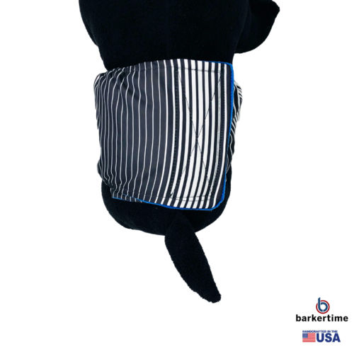black stripes waterproof belly band - model 2