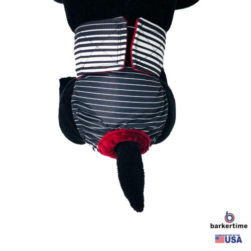 black stripes waterproof diaper - model 2