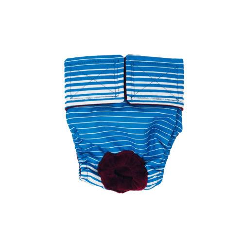 blue stripes waterproof diaper