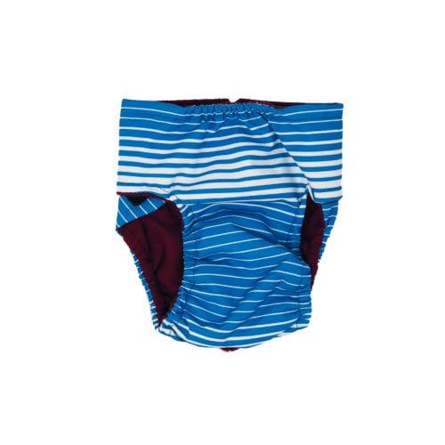 blue stripes waterproof diaper - back