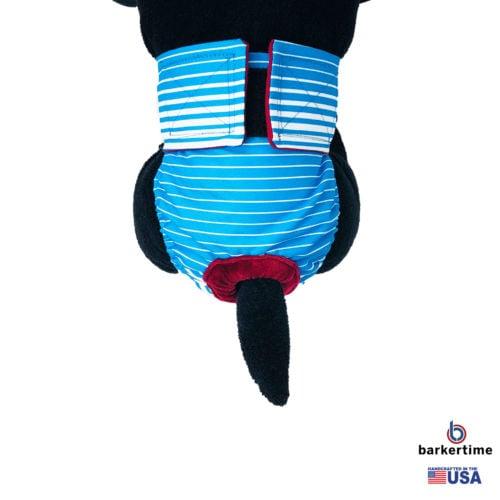 blue stripes waterproof diaper - model 2