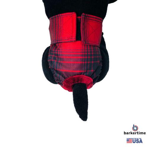 red plaid waterproof diaper - model 2