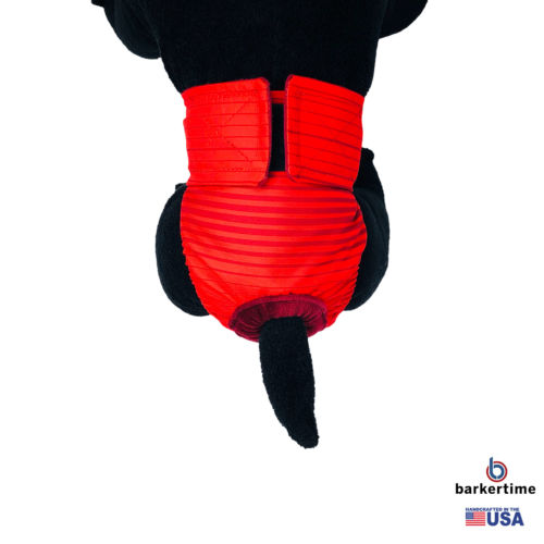 red stripes waterproof diaper - model 2