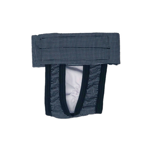 black and white gingham waterproof diaper pull-up