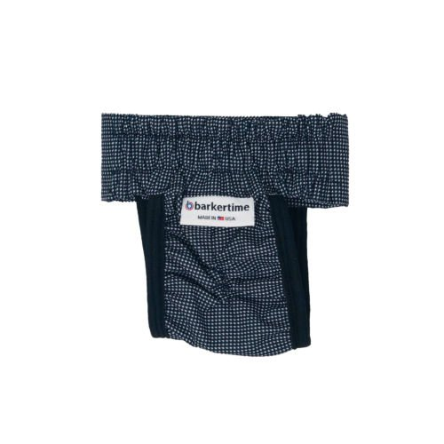 black and white gingham waterproof diaper pull-up - back